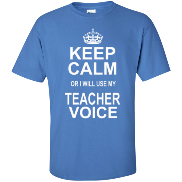 Keep Calm or i will use my Teacher Voice T-shirt Hoodie - TeachersLoungeShop - 6