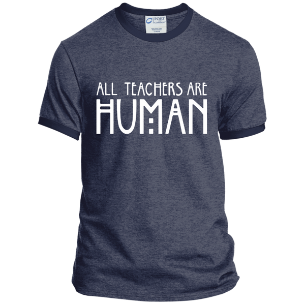 All Teachers Are Human Ringer Tee - TeachersLoungeShop - 5