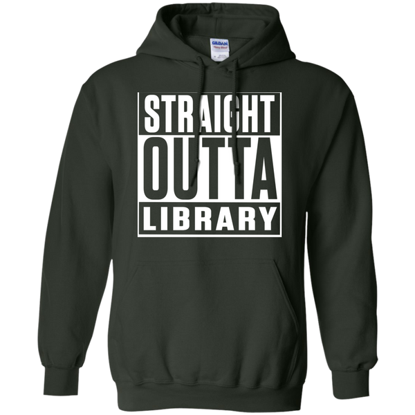 Straight Outta Library  Hoodie 8 oz - TeachersLoungeShop - 6
