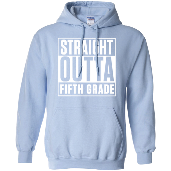 Straight Outta Fifth Grade  Hoodie 8 oz - TeachersLoungeShop - 10