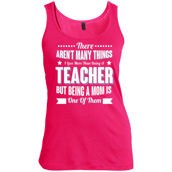 There aren't many things I Love more than being a Teacher but being a MOM is one of them  Scoop Neck Tank Top - TeachersLoungeShop - 4