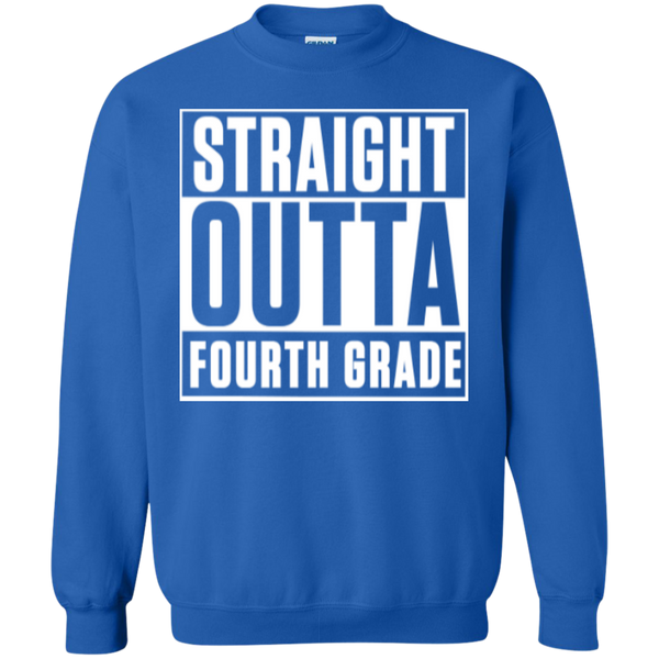 Straight Outta Fourth Grade  Crewneck Pullover Sweatshirt  8 oz - TeachersLoungeShop - 5