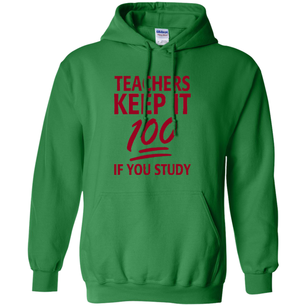 Teachers keep It 100 If You Study Pullover Hoodie 8 oz - TeachersLoungeShop - 5