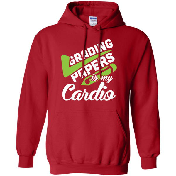 Grading papers is my cardio   Hoodie 8 oz - TeachersLoungeShop - 11