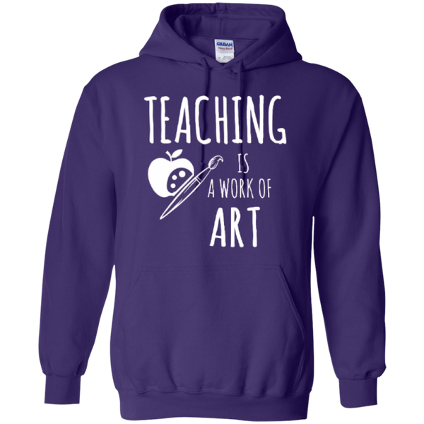 Teaching is a Work of Art Teacher T-shirt Hoodie - TeachersLoungeShop - 11