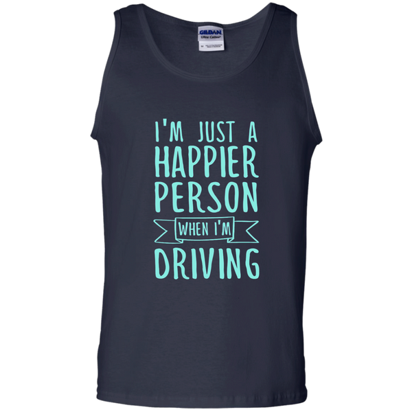 I'm Just a Happier Person When I'm Driving 100% Cotton Tank Top - TeachersLoungeShop - 2