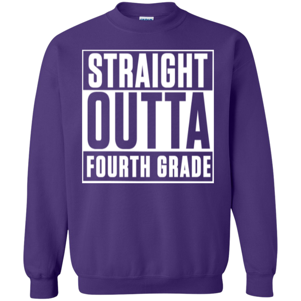Straight Outta Fourth Grade  Crewneck Pullover Sweatshirt  8 oz - TeachersLoungeShop - 6