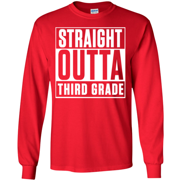 Straight Outta Third Grade LS Cotton Tshirt - TeachersLoungeShop - 5