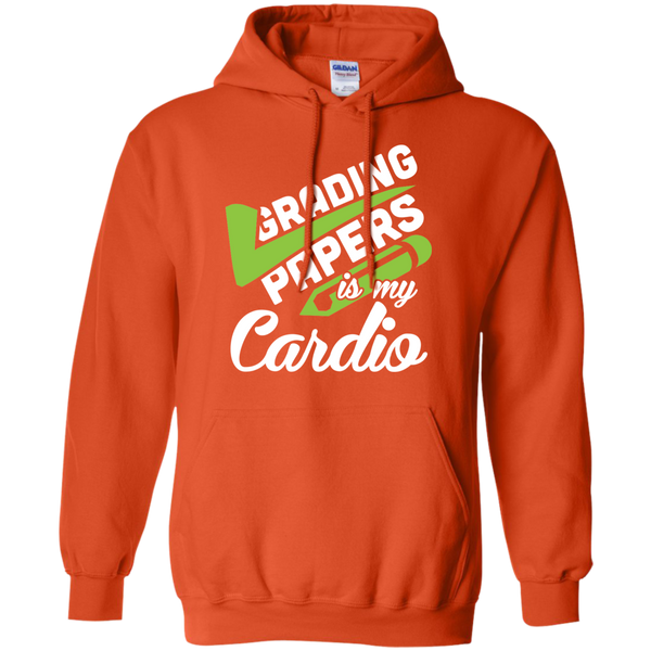 Grading papers is my cardio   Hoodie 8 oz - TeachersLoungeShop - 9