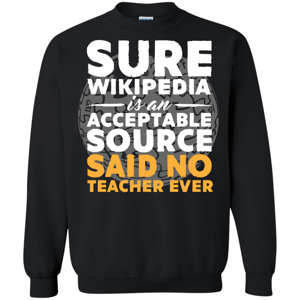 Printed Crewneck Pullover Sweatshirt  8 oz - TeachersLoungeShop - 1