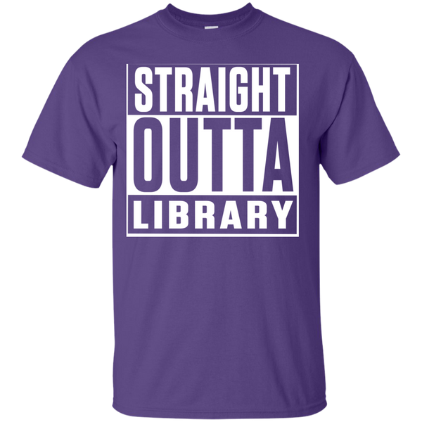 Straight Outta Library T-Shirt - TeachersLoungeShop - 4