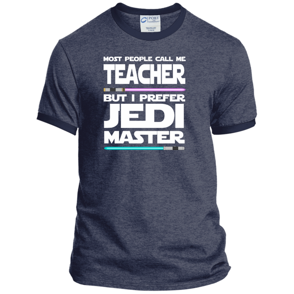 Most People Call Me Teacher But I Prefer Jedi Master Ringer Tee - TeachersLoungeShop - 5