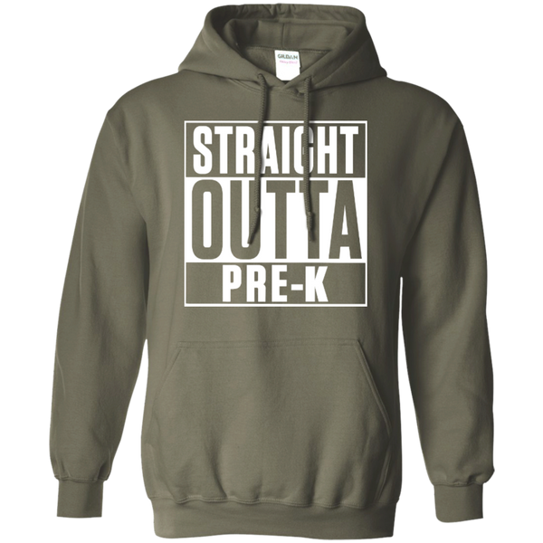 Straight Outta Pre-K   Hoodie 8 oz - TeachersLoungeShop - 11