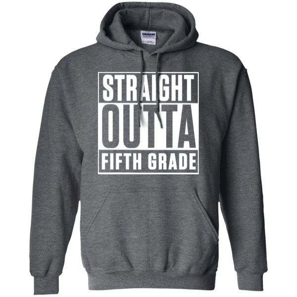 Straight Outta Fifth Grade  Hoodie 8 oz - TeachersLoungeShop - 4