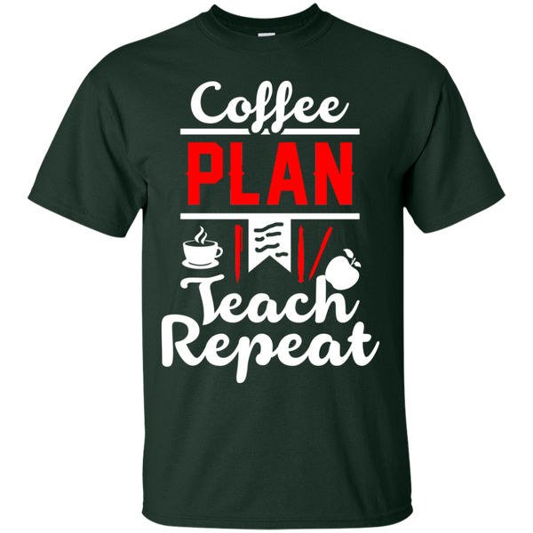 Coffee Plan Teach Repeat  T-Shirt - TeachersLoungeShop - 2