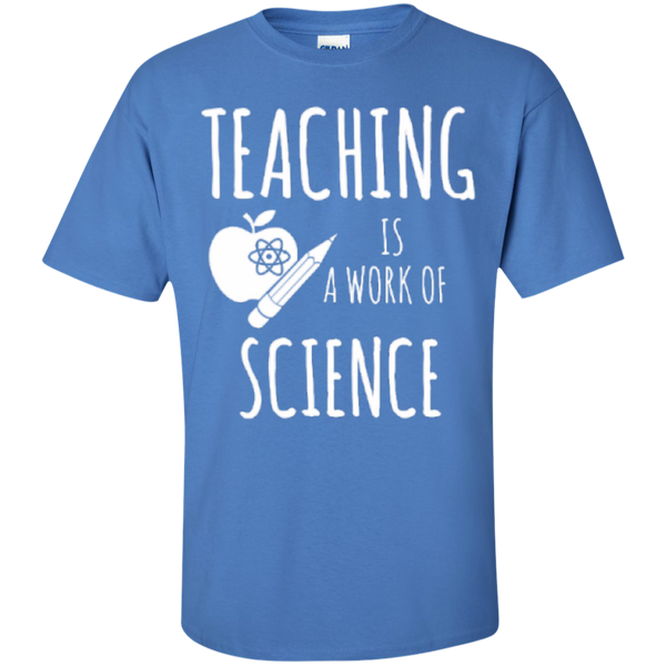 Teaching is a Work of Science Teacher T-shirt Hoodie - TeachersLoungeShop - 6