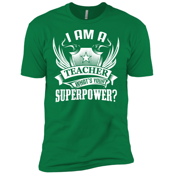 I am a Teacher what's your Superpower Next  Level Premium Short Sleeve Tee - TeachersLoungeShop - 6