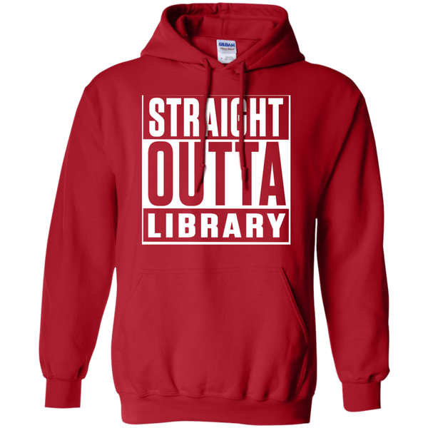 Straight Outta Library  Hoodie 8 oz - TeachersLoungeShop - 10