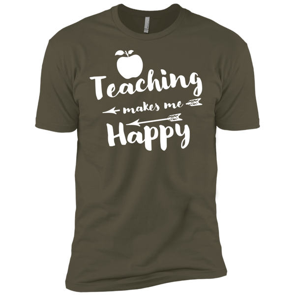 Teaching makes me Happy    Level Premium Short Sleeve Tee - TeachersLoungeShop - 7