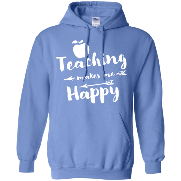 Teaching makes me Happy     Hoodie 8 oz - TeachersLoungeShop - 4