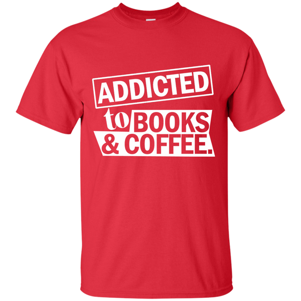 Addicted to Books and Coffee Cotton T-Shirt - TeachersLoungeShop - 8