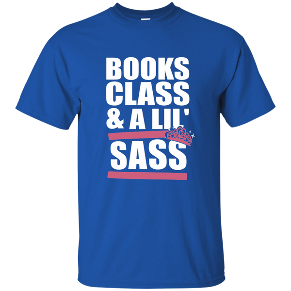 Books Class and A Little Sass Cotton T-Shirt - TeachersLoungeShop - 10