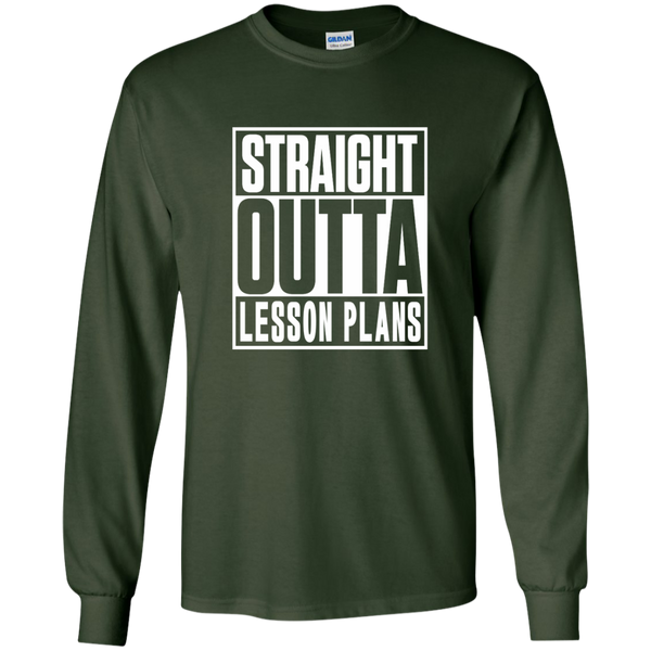 Straight Outta Lesson Plans LS Ultra Cotton Tshirt - TeachersLoungeShop - 2