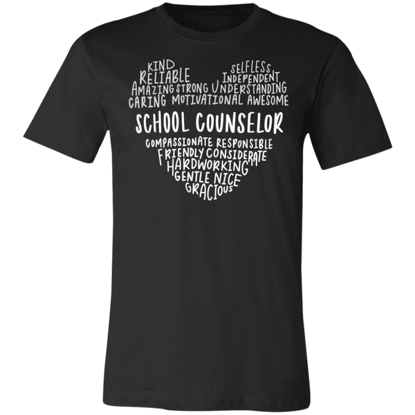 School Counselor Heart saying  T-Shirt