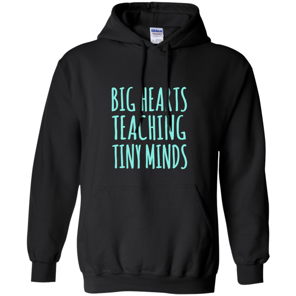 Big Hearts Teaching Tiny Minds Pullover Hoodie 8 oz - TeachersLoungeShop - 1