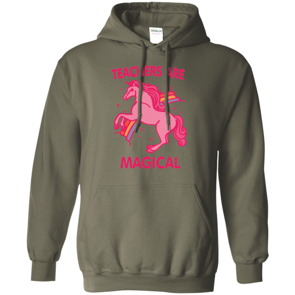 Teachers are Magical Pullover Hoodie 8 oz - TeachersLoungeShop - 10
