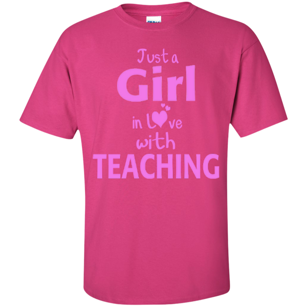 Just a Girl in Love with Teaching T-shirt Hoodie - TeachersLoungeShop - 4