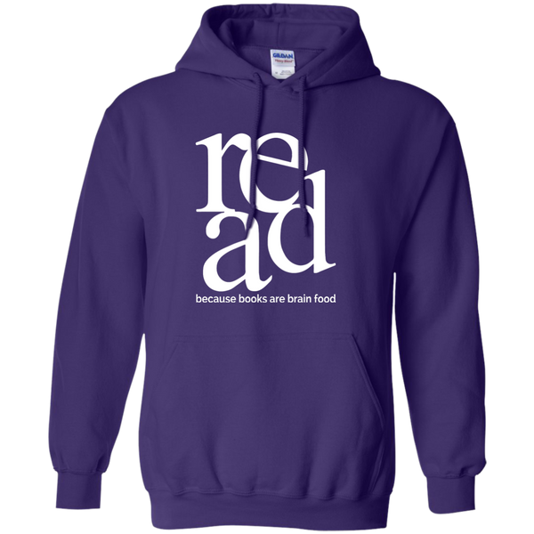 Read Because Books Are Brain Food Pullover Hoodie 8 oz - TeachersLoungeShop - 2