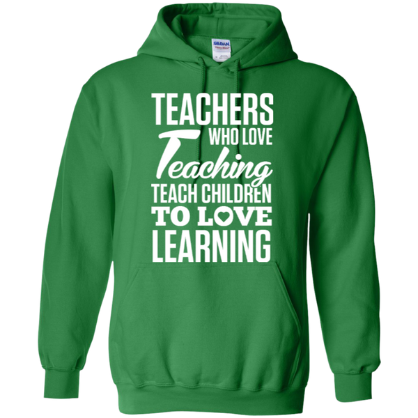 Teachers who love teaching  Hoodie 8 oz - TeachersLoungeShop - 5