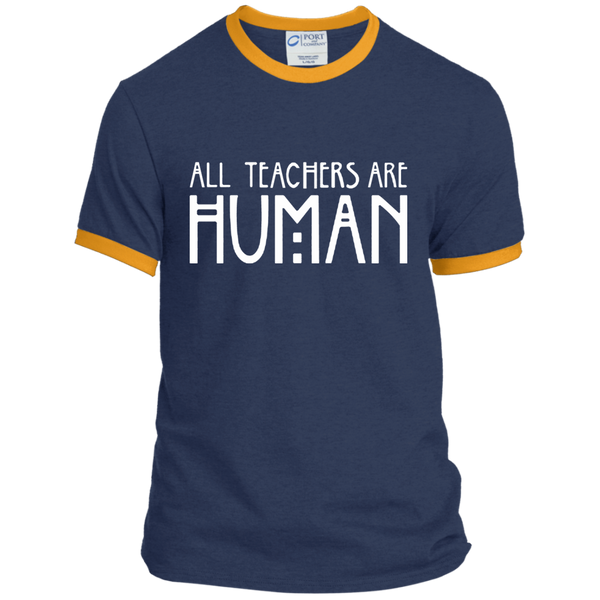 All Teachers Are Human Ringer Tee - TeachersLoungeShop - 1