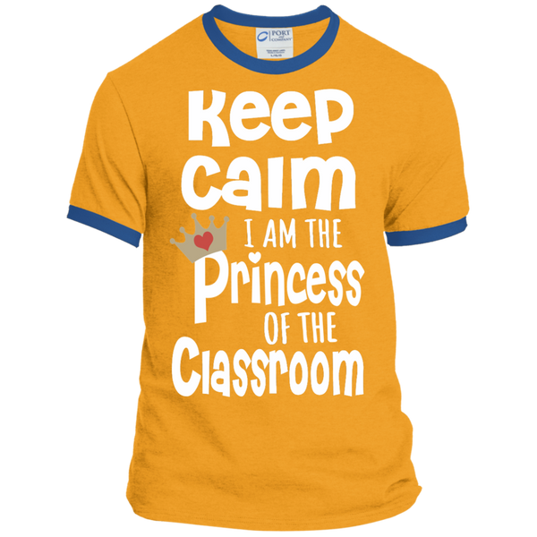 Keep Calm I am the Princess of the Classroom Ringer Tee - TeachersLoungeShop - 4