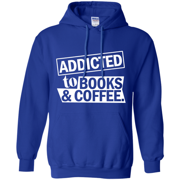 Addicted to Books and Coffee Pullover Hoodie 8 oz - TeachersLoungeShop - 12