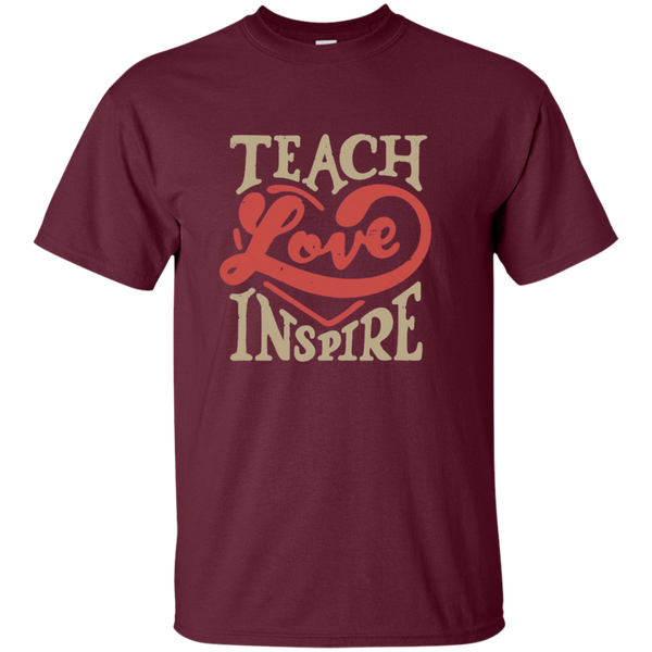 Teach Love Inspire Teacher Cotton T-Shirt - TeachersLoungeShop - 7
