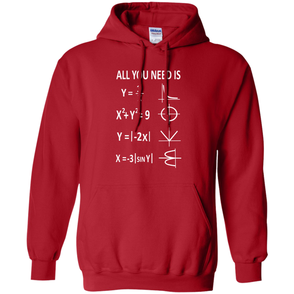 All You Need is Love Pullover Hoodie 8 oz - TeachersLoungeShop - 11