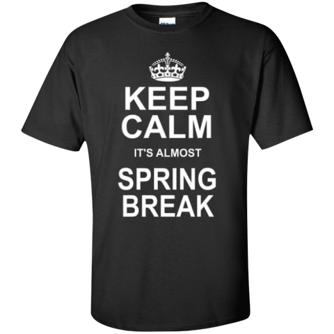 Keep Calm its almost Spring Break Teacher T-shirt Hoodie - TeachersLoungeShop - 1