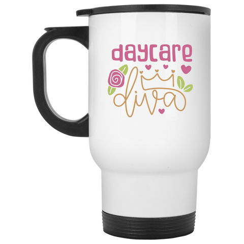 Day Care Diva White Travel Mug