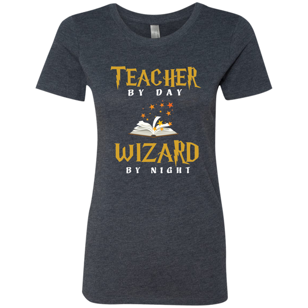 Teacher by Day Wizard by Night Next Level Ladies Triblend T-Shirt - TeachersLoungeShop - 6