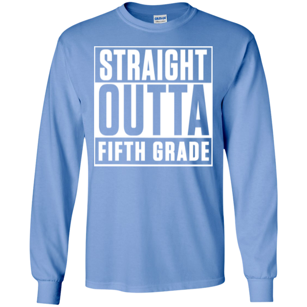 Straight Outta Fifth Grade LS  Cotton Tshirt - TeachersLoungeShop - 8