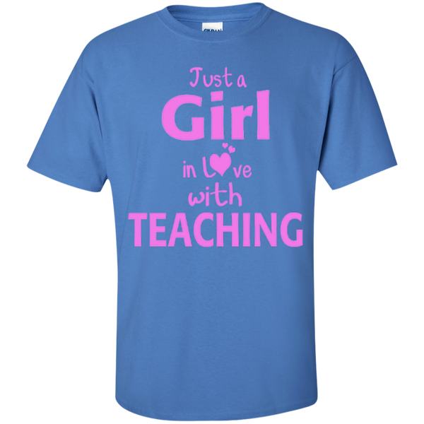 Just a Girl in Love with Teaching T-shirt Hoodie - TeachersLoungeShop - 6
