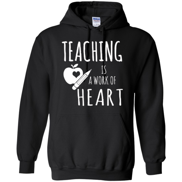 Teaching is a Work of Heart Teacher T-shirt Hoodie - TeachersLoungeShop - 6