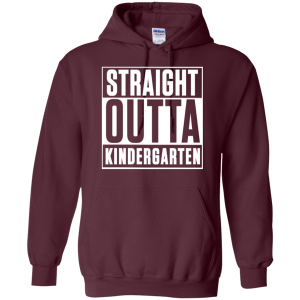Straight Outta Kindergarten Hoodie 8 oz - TeachersLoungeShop - 9