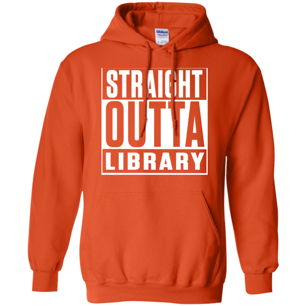 Straight Outta Library  Hoodie 8 oz - TeachersLoungeShop - 8
