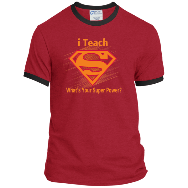 i Teach What's Your Superpower Ringer Tee - TeachersLoungeShop - 9