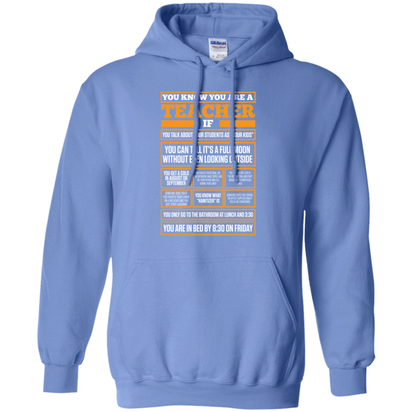 You know You are a Teacher if  Hoodie 8 oz - TeachersLoungeShop - 3