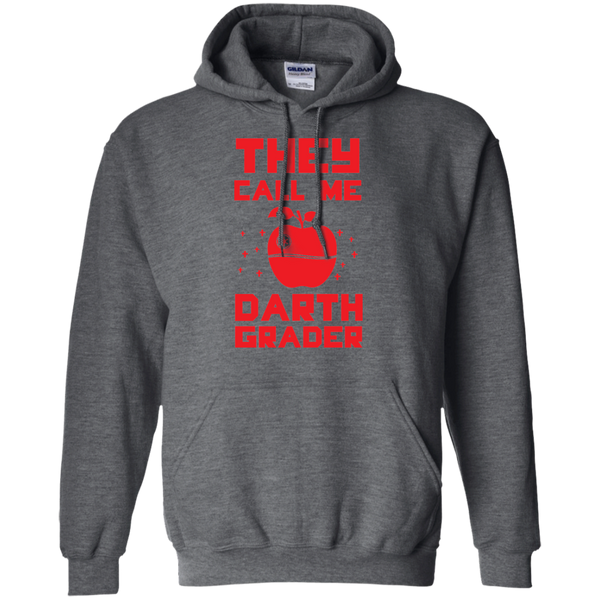 They call me Darth Grade  Hoodie 8 oz - TeachersLoungeShop - 3