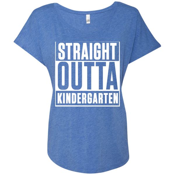 Straight Outta Kindergarten  Level Ladies Triblend Dolman Sleeve - TeachersLoungeShop - 8